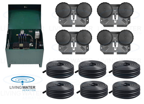 AirPro 3/4 HP Rocking Piston Pond Aerator Kit - up to 4 Acre Ponds
