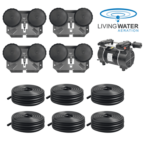 AirPro Rocking Piston Pond Aerator Kit - up to 4 Acres