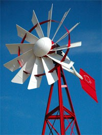 16 ft Tower Powder Coated Windmill Aeration System