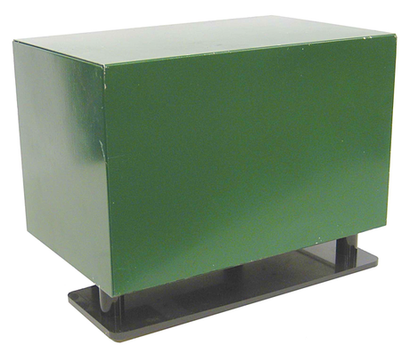 Post Mounted Lockable Cabinet with Ground Base