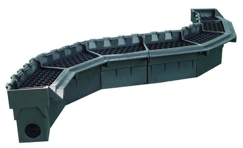 "Pro-Series 18"" Straight Waterfall Spillway Assembled"