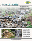 "Pro-Series Just-A-Falls Kit w/ Standard Res-Cubes 50"" Spillway (22' Stream)"