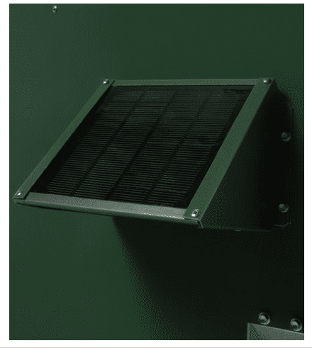 Solar Charger, 12 Volt 1 Watt, for Scatter Feeders, Green Finish