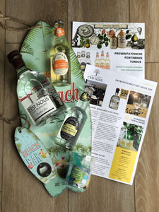 Ginsations August 2019 French Gin Box featuring C'est Nous Gin and Fentimans Valencian Orange Tonic and Fentimans Indian Tonic