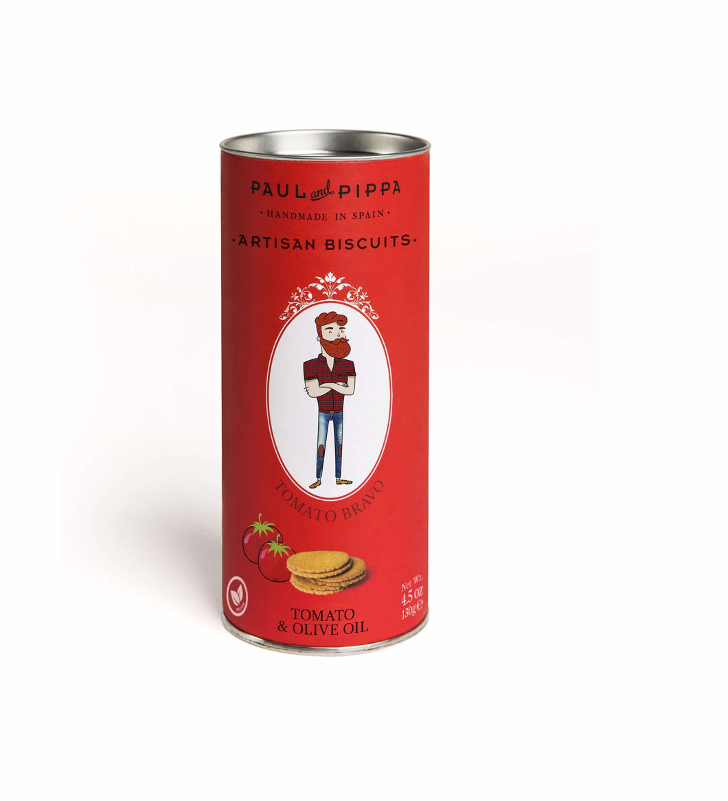 Paul and Pippa Tomato Bravo Artisan Biscuits - GINSATIONS