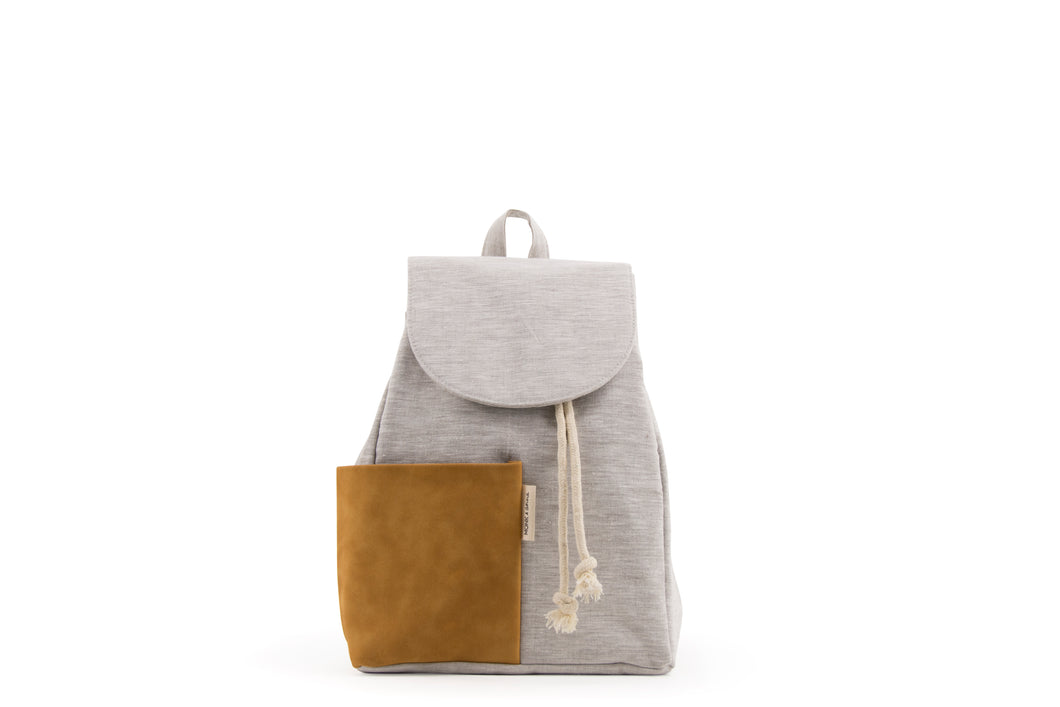 Haruo drawstring backpack - Caramel fudge