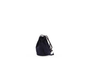 Faye Bucket Bag in Midnight Corduroy