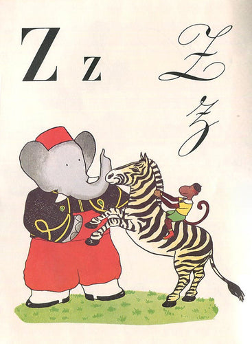 Babar Print - Z is for Zebra