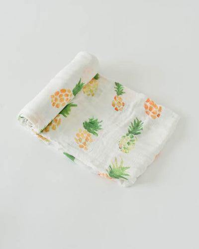 Cotton Muslin Swaddle in Pineapple