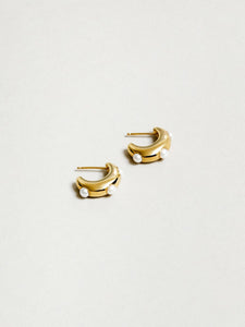 Isla Pearl Earrings in Gold by Wolf Circus