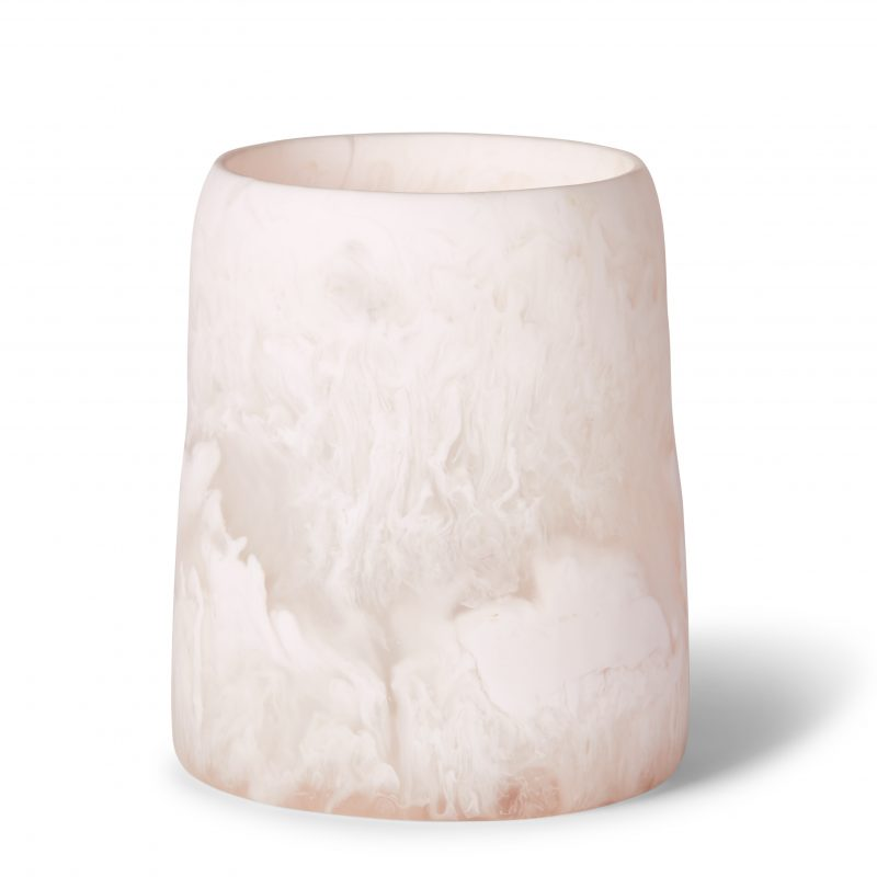 Curvaceous Resin Vase - Rose Marble