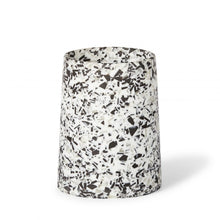 Load image into Gallery viewer, Tower Vase Black Terrazzo
