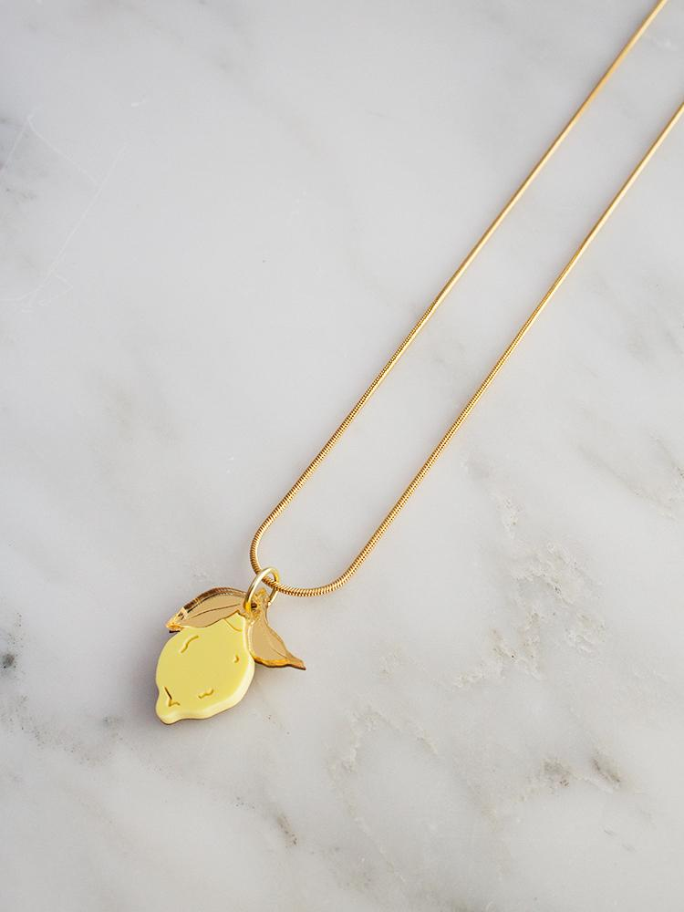Mini Lemon Necklace by Wolf & Moon
