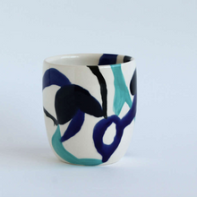 Load image into Gallery viewer, Handmade Round Blue Swirl Tumbler