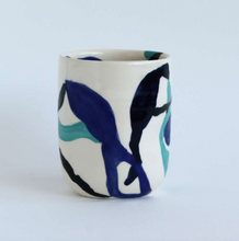 Load image into Gallery viewer, Handmade Round Blue Swirl Tumbler - Tall