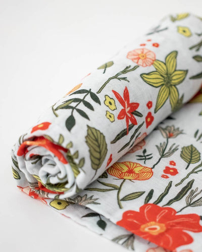 Cotton Muslin Swaddle in Primrose Patch