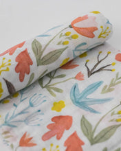Load image into Gallery viewer, Cotton Muslin Swaddle in Meadow