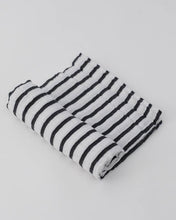 Load image into Gallery viewer, Cotton Muslin Swaddle in Breton Stripe