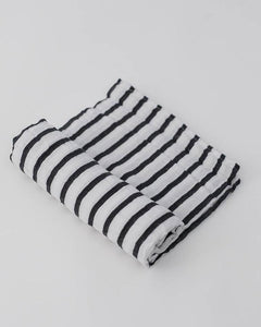 Cotton Muslin Swaddle in Breton Stripe