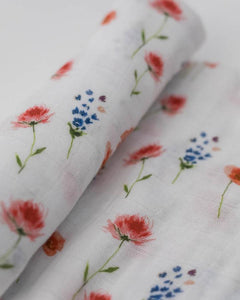 Cotton Muslin Swaddle in Wild Mums