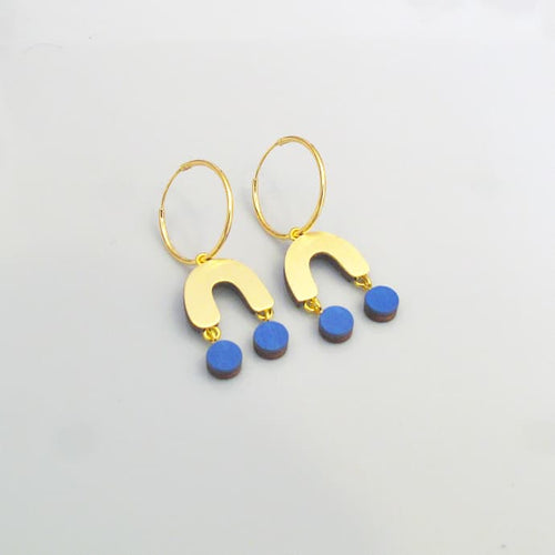 Miro Earrings in Blue by Wolf & Moon