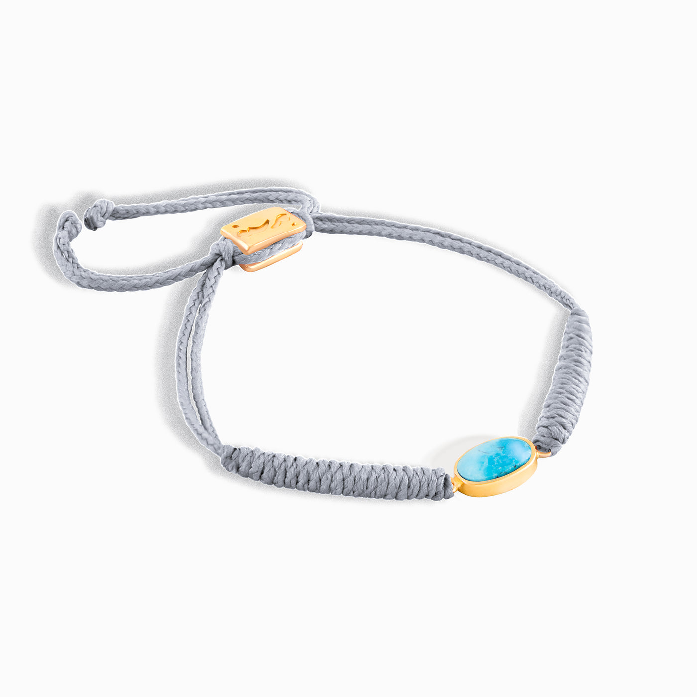 Grey Turquoise Braided Bracelet