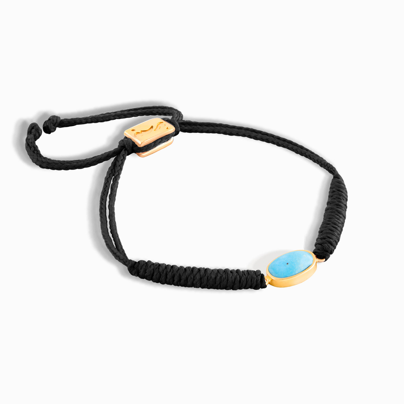 Black Horizontal Turquoise Braided Bracelet