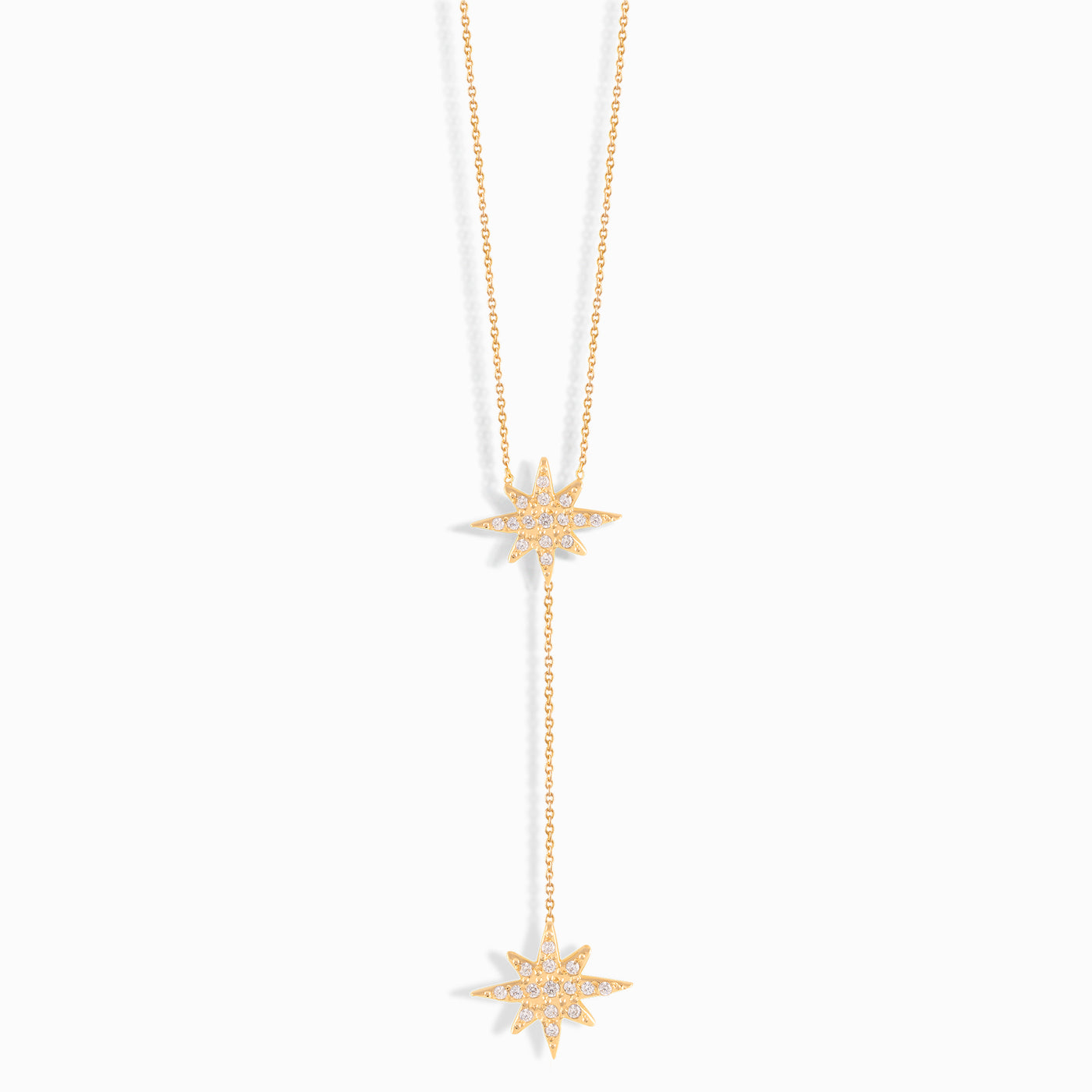 Twinkling Star Y Necklace