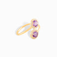 Double Amethyst Wrap Ring