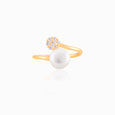 Diamond Pave Pearl Wrap Ring
