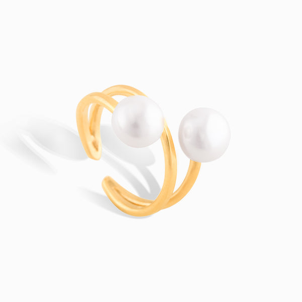 Pearl Claw Ring