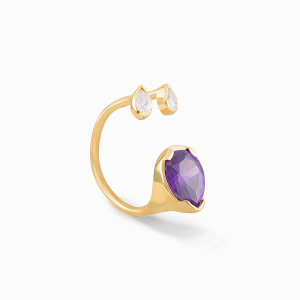 Open Amethyst Ring