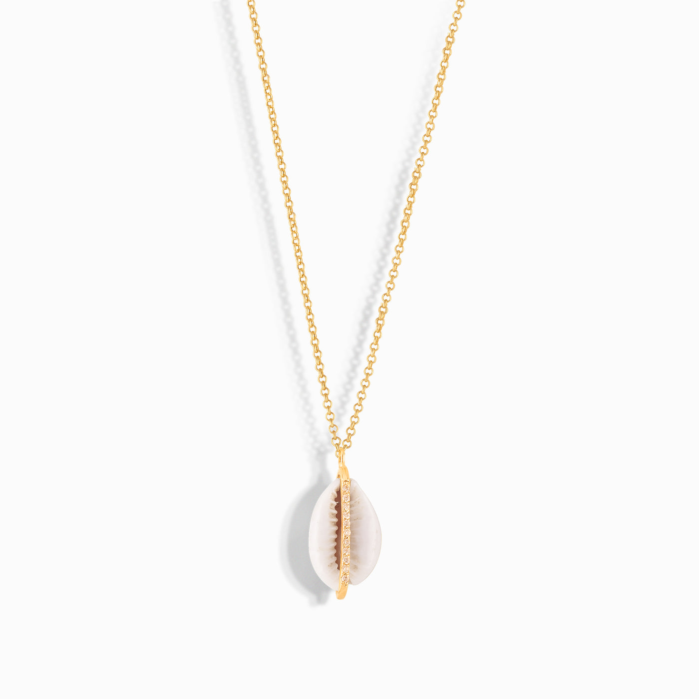 Diamond Burst Seashell Necklace