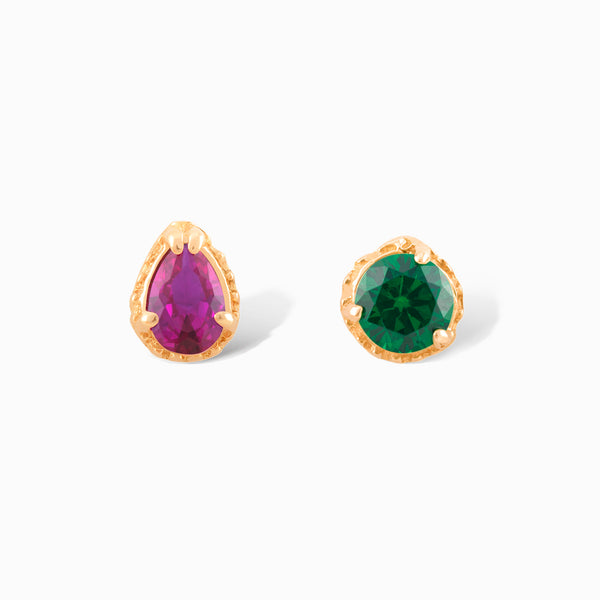 Mix Matched Precious Stone Studs