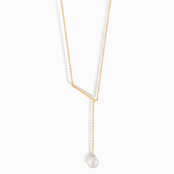 Offset Pearl Necklace