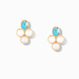 Turquoise And Shell Earring