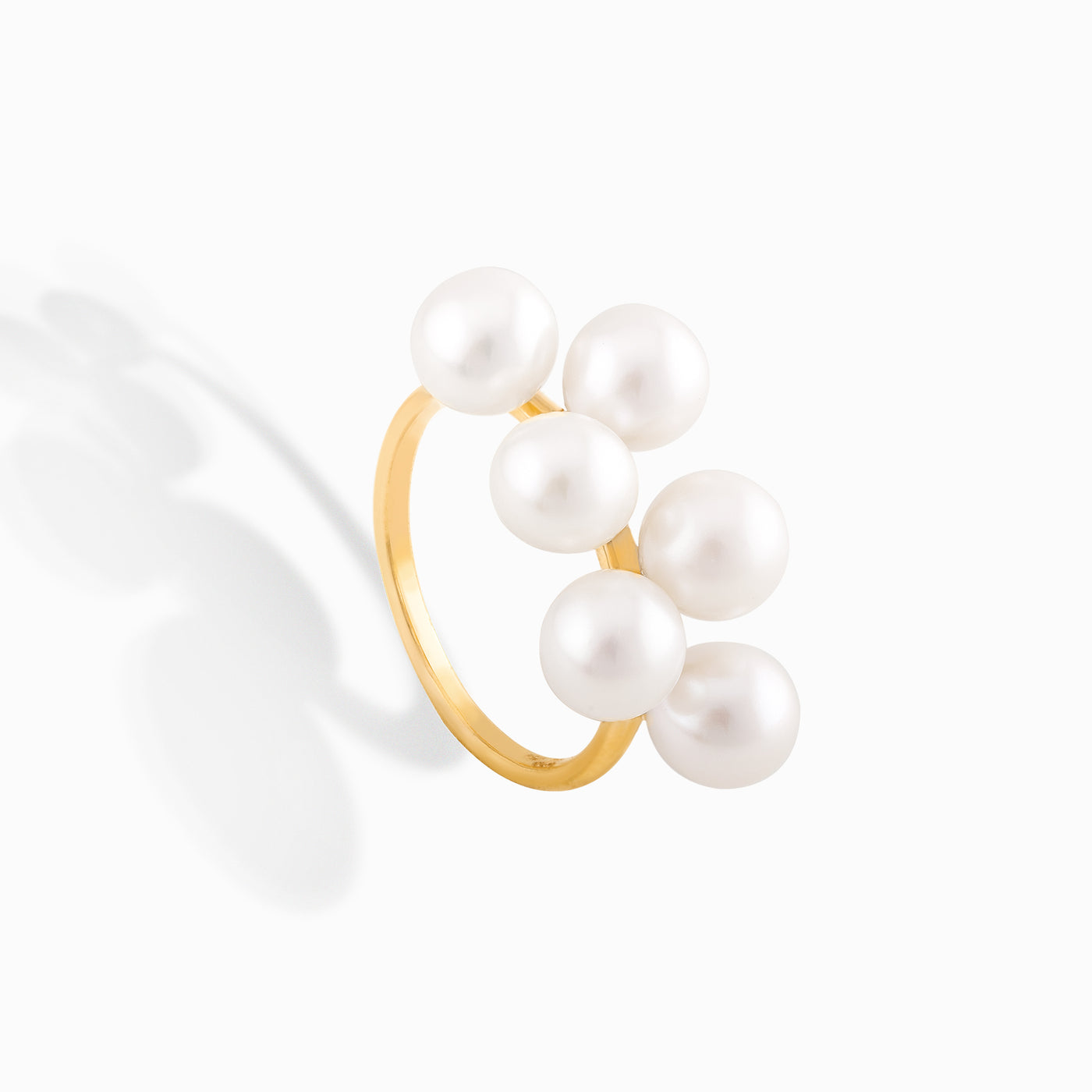 Six Station Pearl Ring