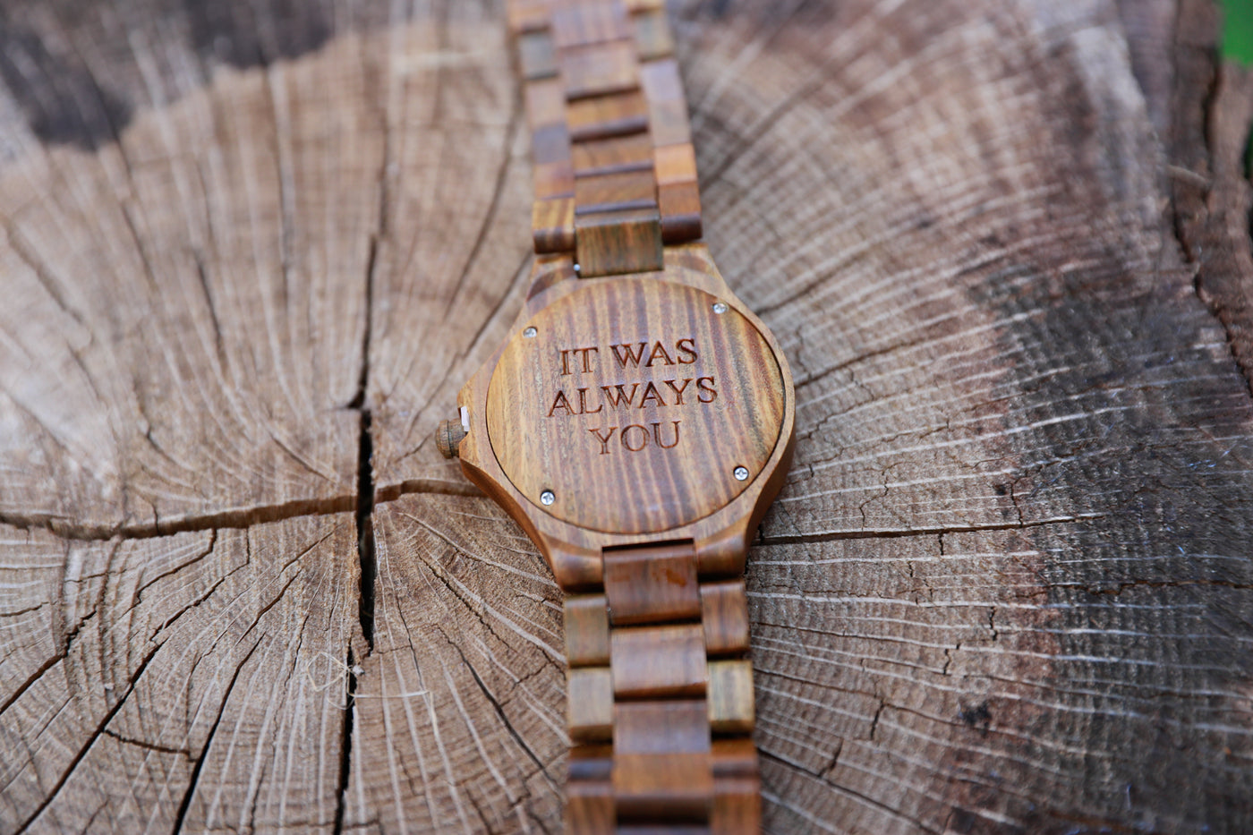 Bewell engraved wood watches