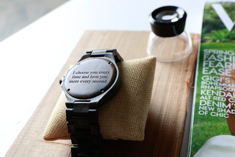 engraved gift, wooden watch, personalized gift