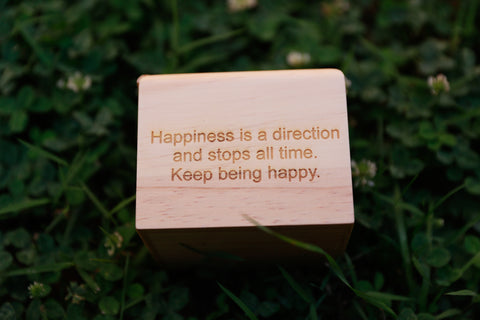 happy, love, happiness, engraved gift, engraved wood box, wooden watch