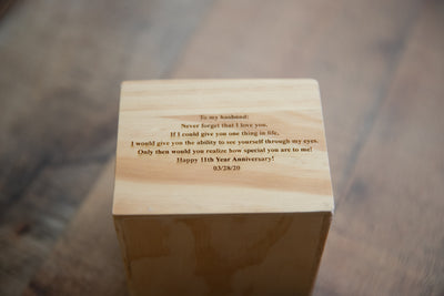 Engraved Wooden Watch Box