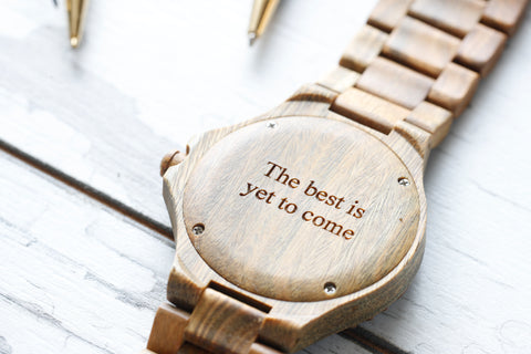 best gift for him, anniversary gift for him, engraved wood watch, bewell watch, personalized gift for him