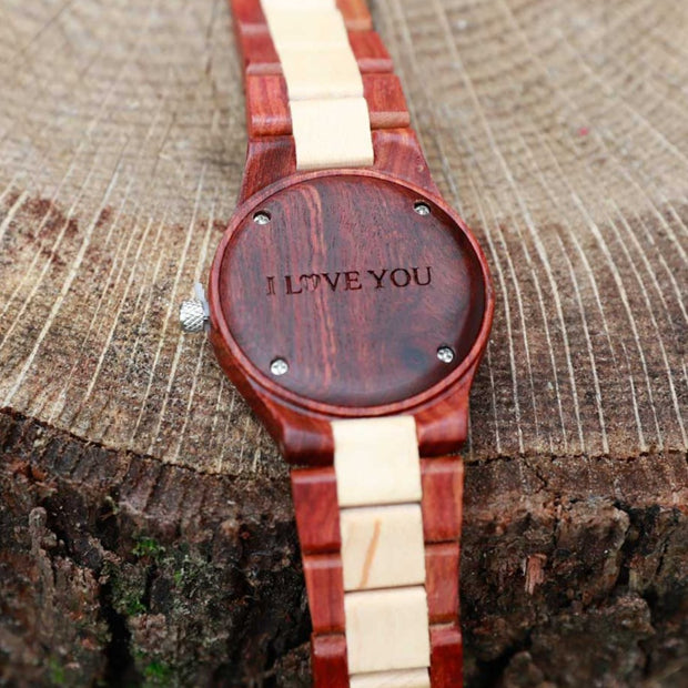 custom watches, Engraved Watches, personalized wood watches, personalized watches for couples