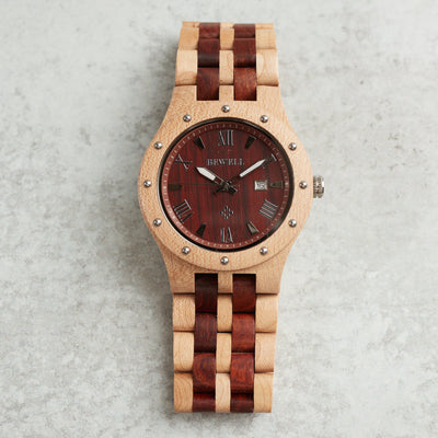 Minerva wood watch