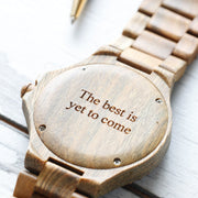 Bewell engraved wood watch