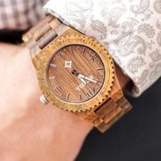 Bewell watches, bewell wood watches, men's wood watch, engraved wood watches