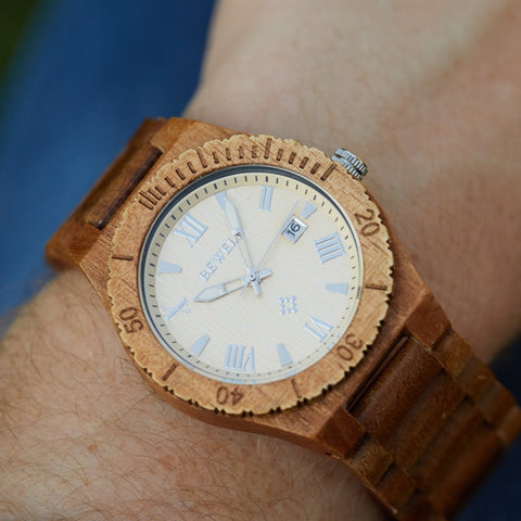 valentines day gift for him, bewell wood watch