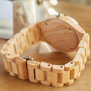 Maple wood watches bewell watches couple watches
