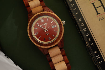 Red Sandalwood and Maple Juno Watch