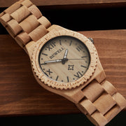 Maple wood watch for men Bewell Watches Engraved Watches
